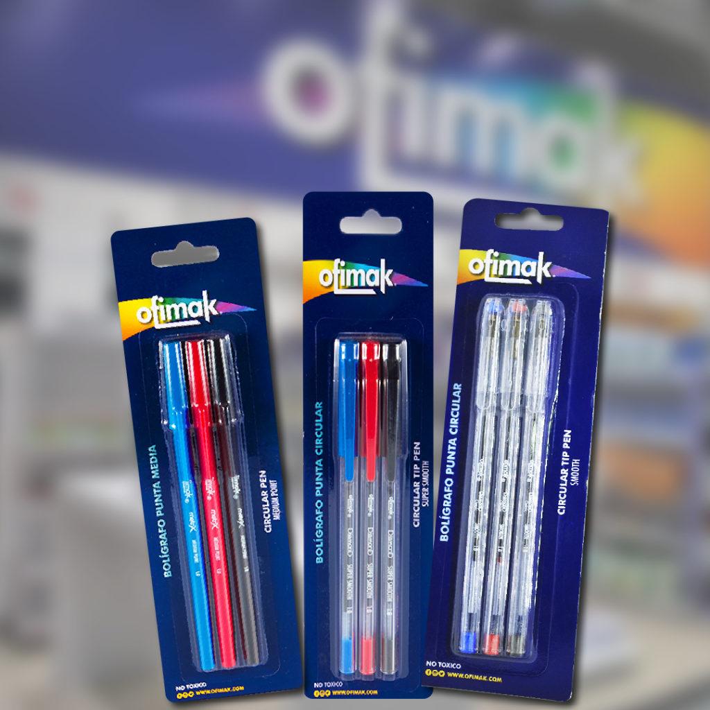 Bolígrafos Ofimak
